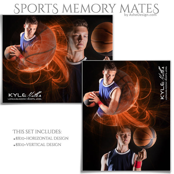 Sports Memory Mates 8x10 - Mystic Explosion Basketball