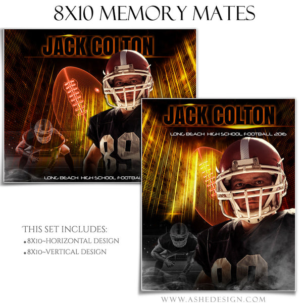 Sports Memory Mates 8x10 - Allstar Arena Football