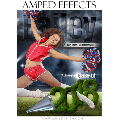 Ashe Design 16x20 Amped Effects Sports Poster - Stormy Lights Cheer 2018