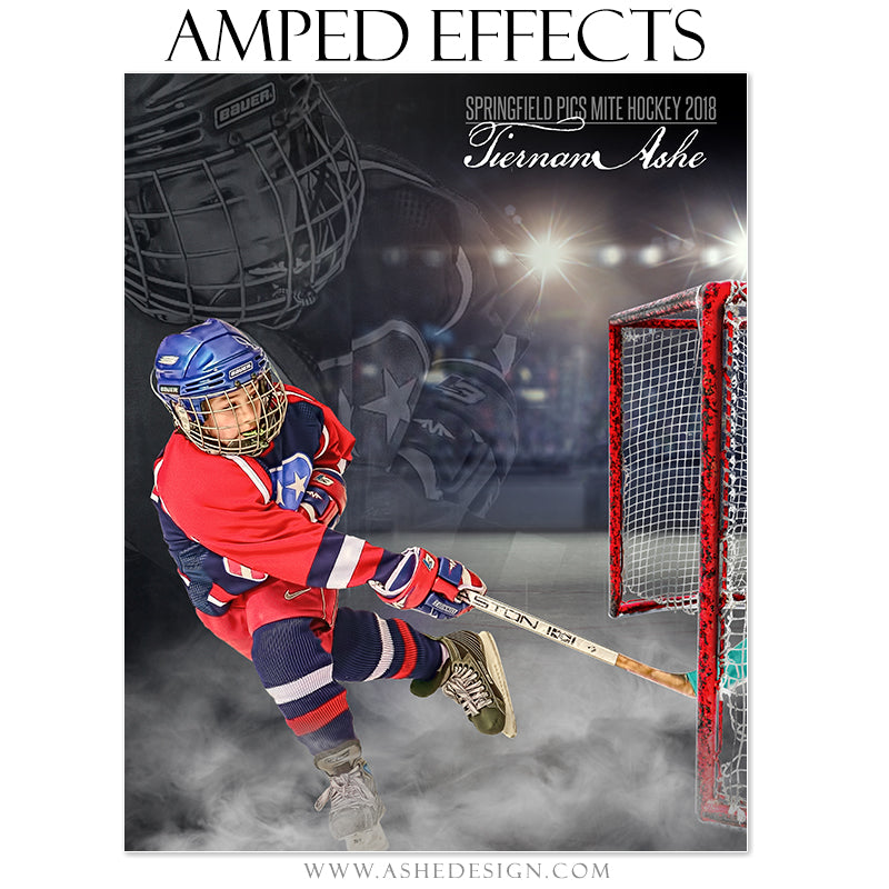 Ashe Design 16x20 Amped Effects Poster - Dreamweaver - Ice Hockey