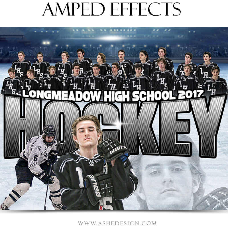 Ashe Design 16x20 Amped Effects Sports Poster - Halftime Hockey