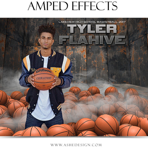 Ashe Design 16x20 Amped Effects Poster - Pile Up - Basketball