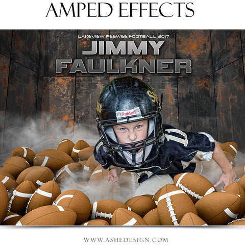 Ashe Design 16x20 Amped Effects Poster - Pile Up - Football