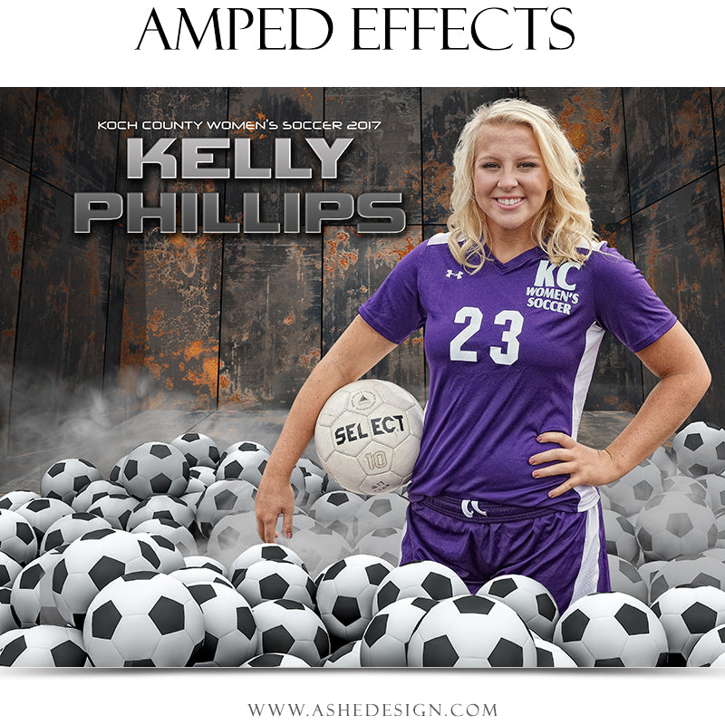 Ashe Design 16x20 Amped Effects Poster - Pile Up - Soccer