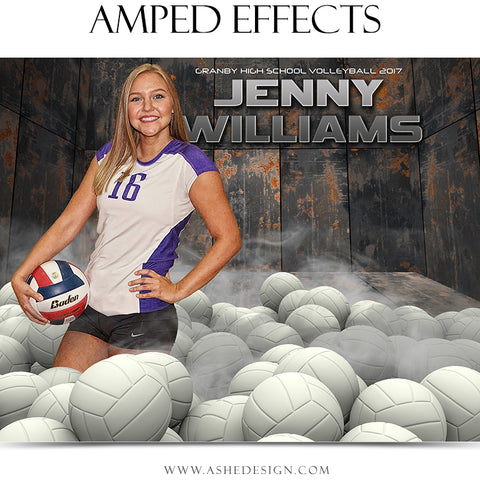 Ashe Design 16x20 Amped Effects Poster - Pile Up - Volleyball