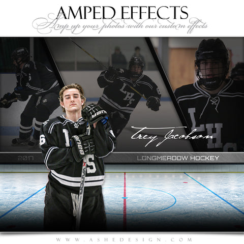 Amped Effects - Faded Triptych - Hockey