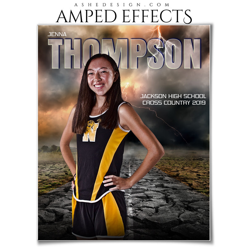 Ashe Design 16x20 Amped Effects Sports Photography Photoshop Templates Breaking Ground Portrait