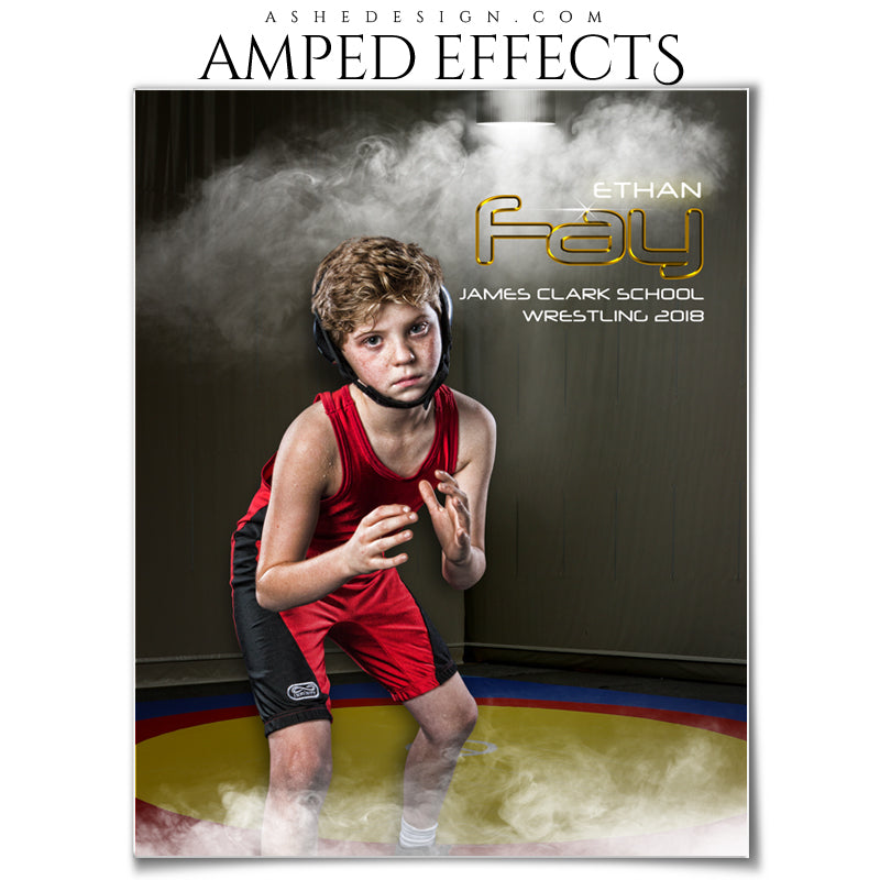 Ashe Design 16x20 Amped Effects - Full Steam Wrestling Portrait