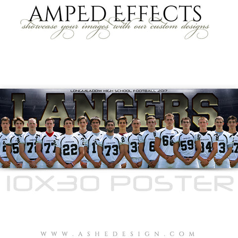 Amped Effects - 10x30 Poster - Heart of a Champion