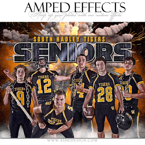 Ashe Design Amped Effect Sports Poster