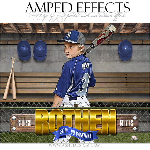 Ashe Design 16x20 Amped Effects Sports Poster - In The Dugout