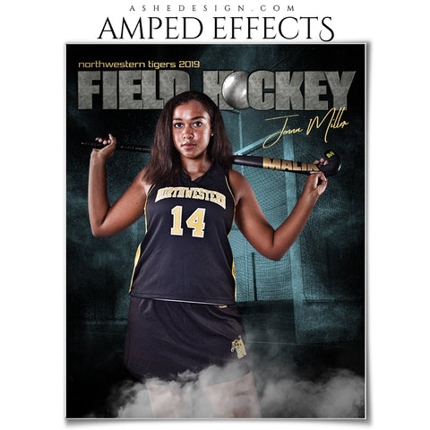Ashe Design 16x20 Amped Effects - Rocked Field Hockey