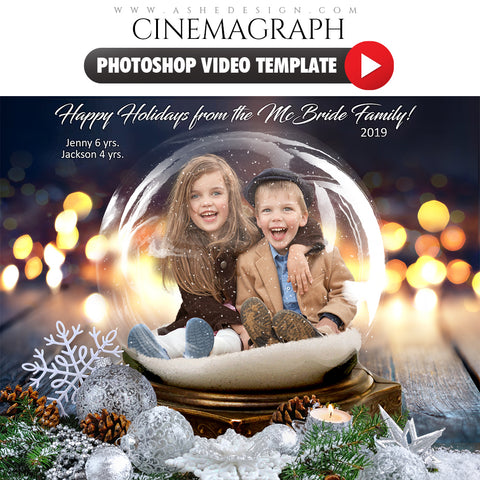 Photoshop Cinemagraph - Twinkling Snow Globe