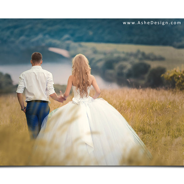 Digital Props 16x20 Backdrop Set - Forever Fields