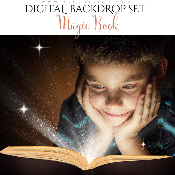 Digital Props 16x20 Backdrop Set - Magic Book