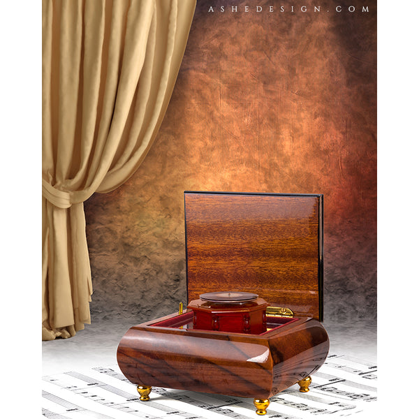 Digital Props 16x20 Backdrop Set - Music Box