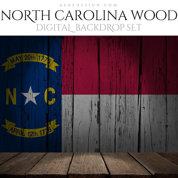 Ashe Design Digital Backdrop State Flag - North Carolina