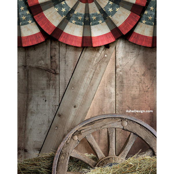 Digital Props - 16x20 Backdrops - Patriotic Bunting