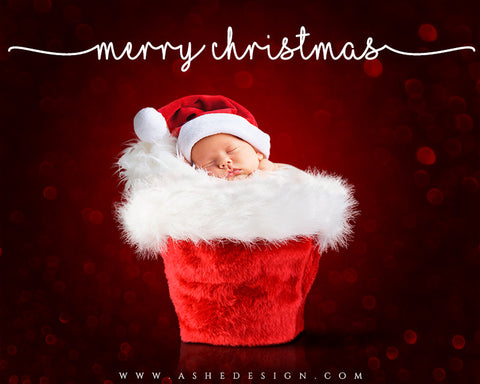 Digital Props 16x20 Backdrop Set - Santa Baby