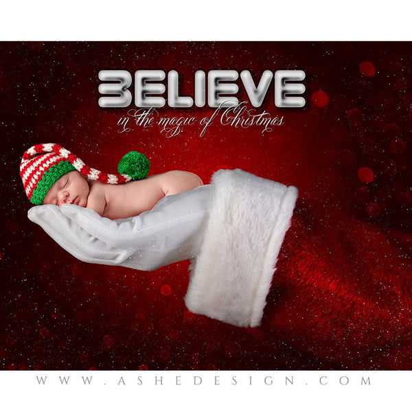 Digital Props 16x20 Backdrop Set - Santa 's Hand