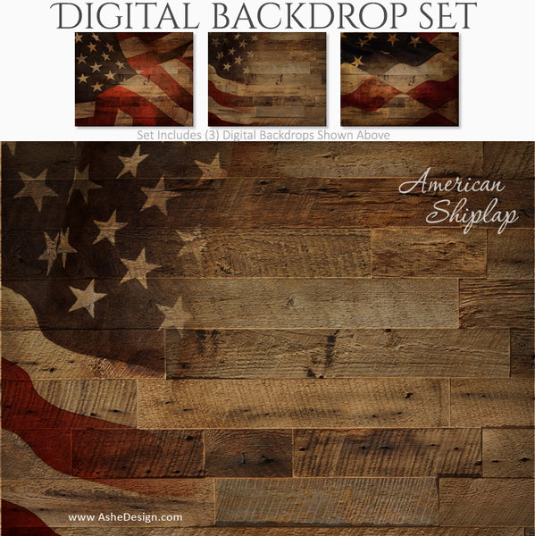 Ashe Design 16x20 Digital Backdrop Set - American Shiplap BEFORE