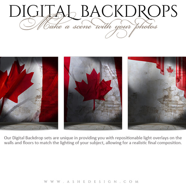 Digital Props - 16x20 Backdrops - Canadian Stone