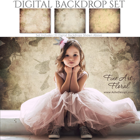 Digital Backdrop Set - Fine Art Floral
