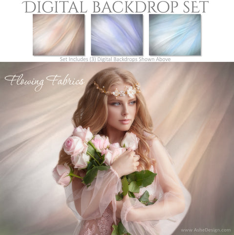 Ashe Design 16x20 Digital Backdrop Set - Flowing Fabrics AFTER