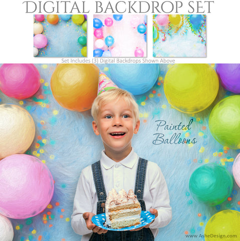 Ashe Design 16x20 Digital Backdrop Set - Painted Balloons AFTER