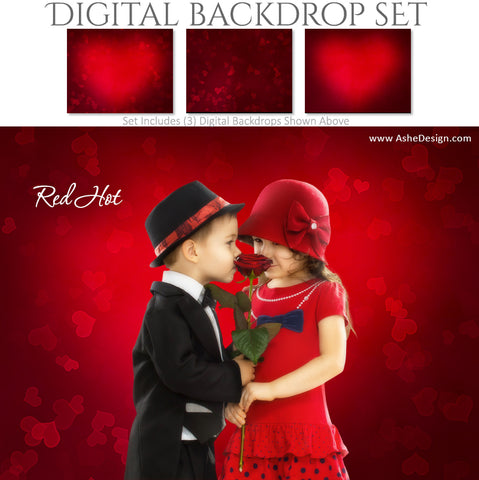 Digital Backdrop Set - Red Hot