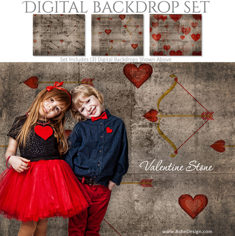 Ashe Design 16x20 Digital Backdrop Set - Valentine Stone AFTER