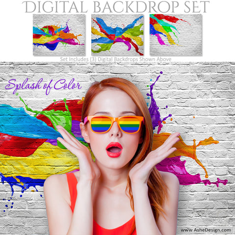 Digital Backdrop Set - Splash of Color
