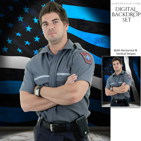 Digital Props - 16x20 Backdrops - EMS Flag Stone