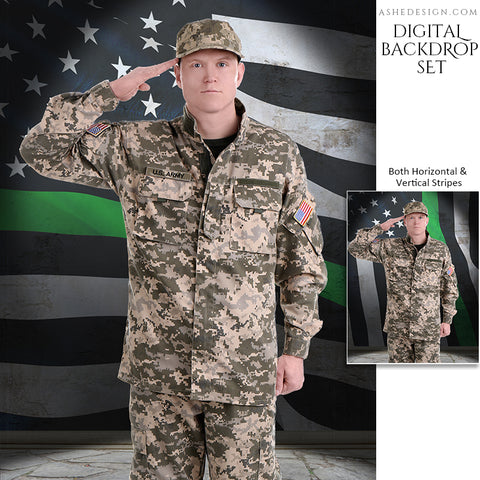 Digital Props - 16x20 Backdrops - Military Flag Stone