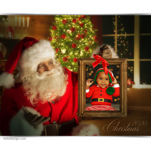 Easy Effects - 16x20 African American Santa Portraits