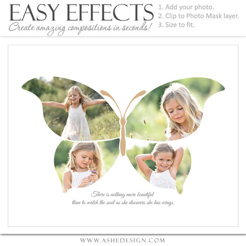 Easy Effects - Butterfly Collage