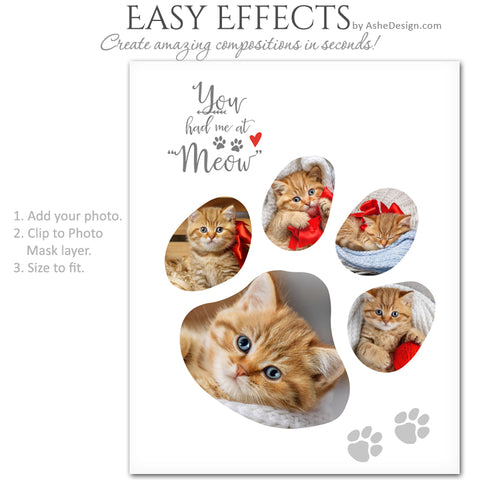 Ashe Design | Easy Effects | Cat Paw Print Collage