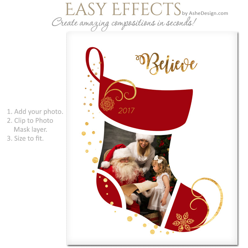 easy effects christmas stocking