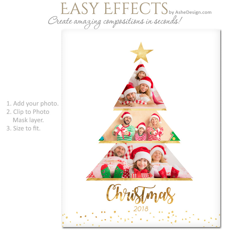 Ashe Design 16x20 Easy Effects - Christmas Tree