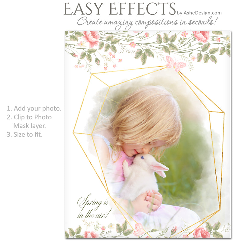 Ashe Design Easy Effects - Floral Geometric