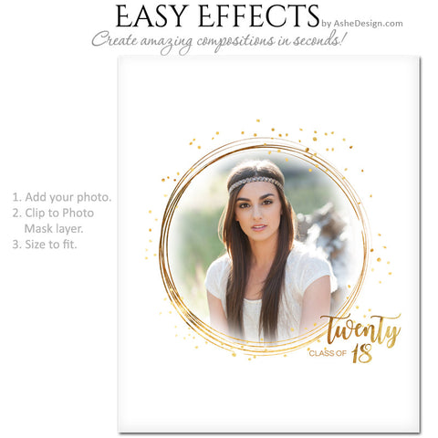 Easy Effects - Golden Glitter Grad