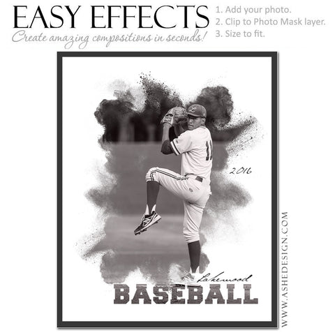 Easy Effects - Powder Explosion Baseball