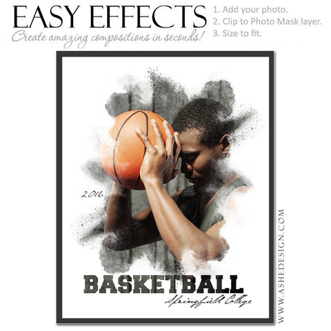 Easy Effects - Powder Explosion Basketball