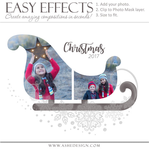 Ashe Design 16x20 Easy Effects - Christmas Sleigh