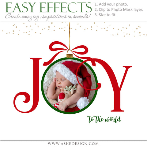 Ashe Design 16x20 Easy Effects - Joy To The World