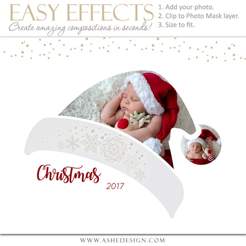 Ashe Design 16x20 Easy Effects - Santa Hat