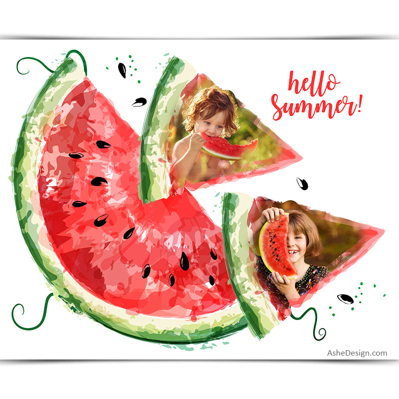 Easy Effects - Watermelon Collage