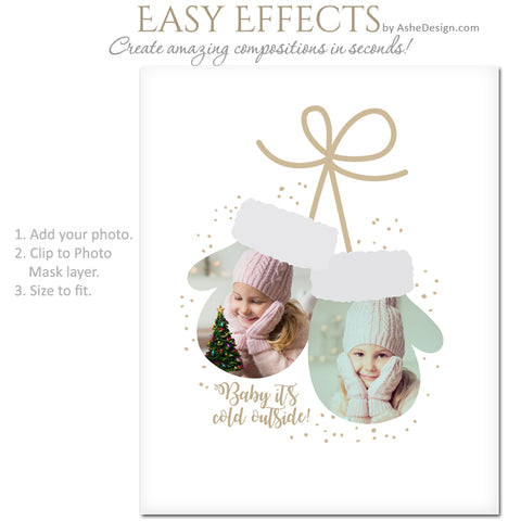 Ashe Design 16x20 Easy Effects - Winter Mittens