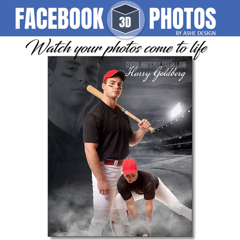 Ashe Design - Facebook 3D Photos Baseball