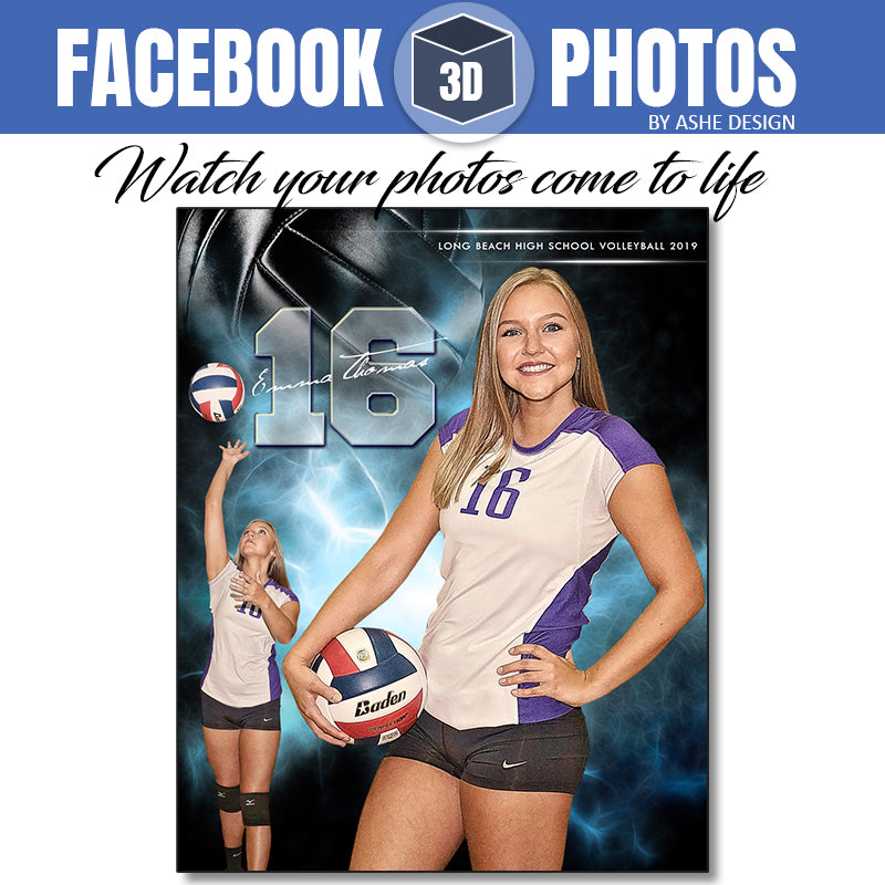 Facebook 3D Photo - Electric Explosion Volleyball